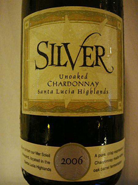 Etikett 2006 Silver Chardonnay unoaked, Santa Lucia Highlands