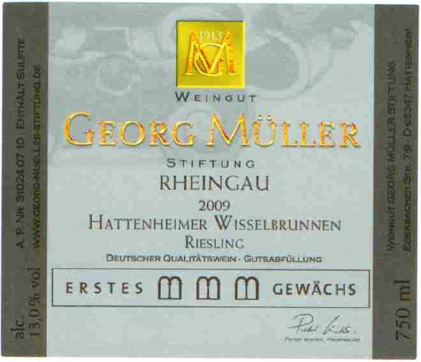Etikett 2009 Hattenheimer Wisselbrunnen Riesling