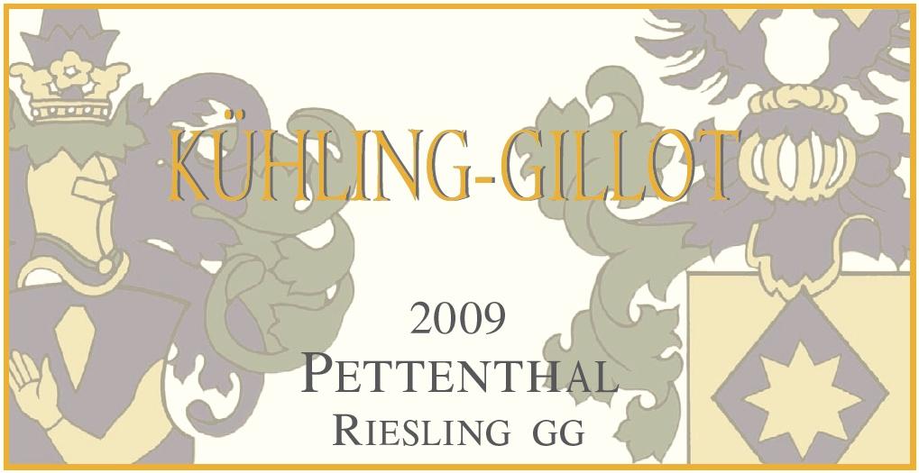 Etikett 2009 Pettenthal Riesling