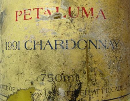 Etikett 1991 Petaluma Chardonnay