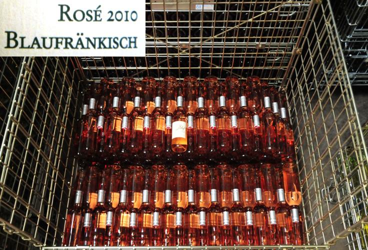 Flaschenreihen Erwin Tinhofs Rosé vom Blaufraenkisch
