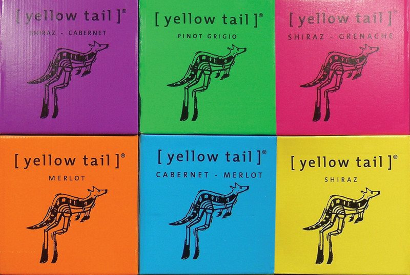 Collage Yellow-Tail-Etiketten