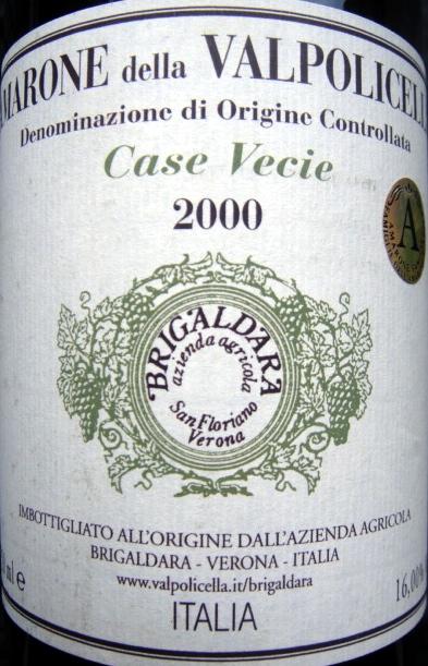 Etikett 2000 Case Vecie, Brigaldara
