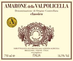 Etikett 2006 Amarone Classico, Brigaldara