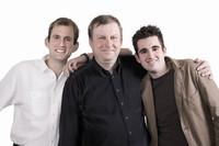 Erich Jakoby mit seinen Söhnen Peter und Stefan