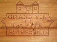 Prägung auf Holzkiste von Lafite-Rothschild