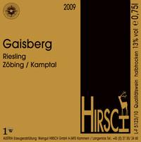 Etikett Gaisberg 2009