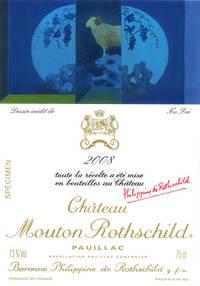 Etikett Mouton 2008