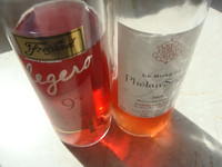 Freixenet Rosado legero und Rosé Chateau Phelan Segur