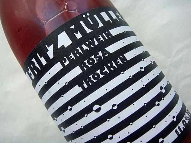 Etikett Fritz Mueller Rosa trocken