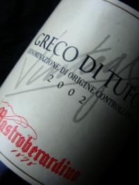 Etikett 2002 Greco di Tufo | Mastroberadino