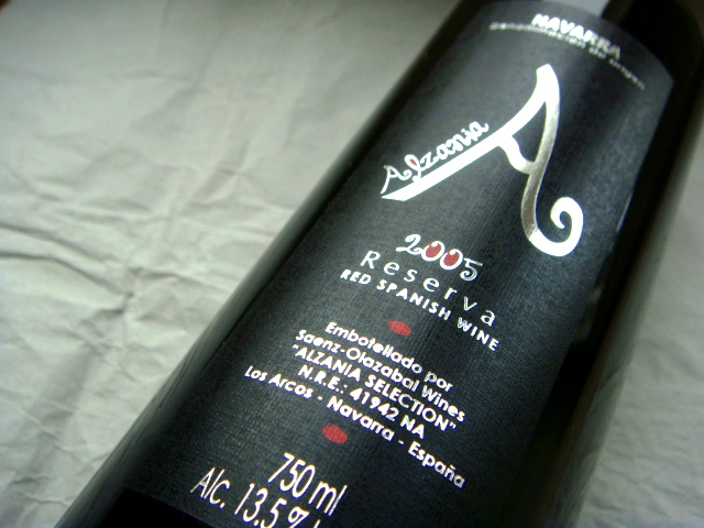 Etikett 2005 Navarra Reserva