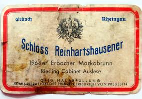 Etikett 1964 Erbacher Marcobrunn Riesling Auslese