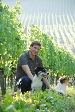 Paul Weltner mit Hunden