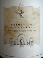 Etikett 2008 Primitivo di Manduria