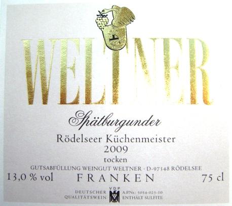 Etikett 2008 Roedelseer Kuechenmeister Spaetburgunder QbA trocken