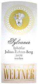 Etikett 2009 Iphoefer Julius-Echter-Berg Sylvaner Spaetlese trocken