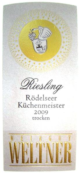 Etikett 2009 Roedelseer Kuechenmeister Riesling Spaetlese trocken