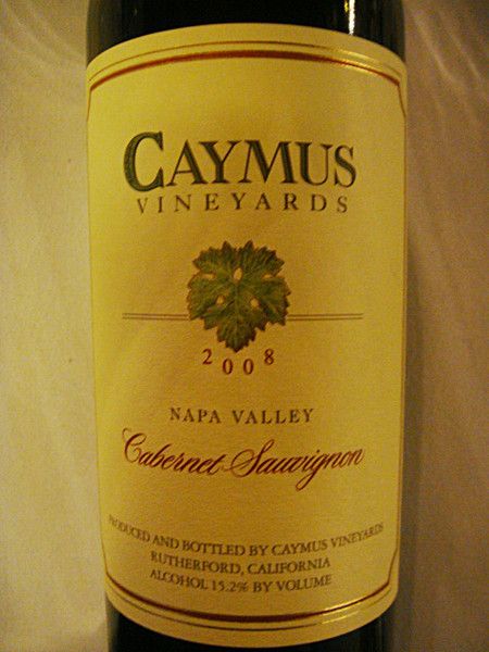 Etikett 2008 Napa Valley Cabernet Sauvignon, Caymus Vineyards