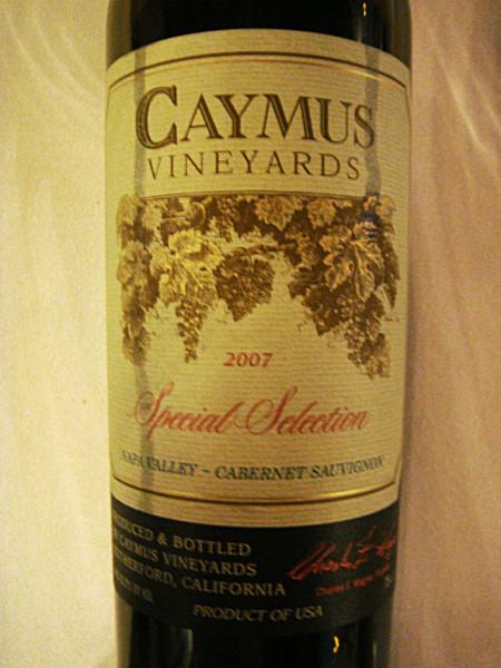 "Etikett 2007 Napa Valley Cabernet Sauvignon ""Special Selection"", Caymus Vineyards"