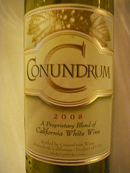 "Etikett 2008 ""Conundrum"", White Proprietary Blend California, Conundrum Wines"