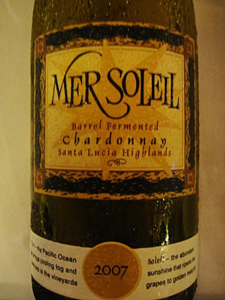 "Etikett 2007 ""Mer Soleil"" Barrel fermented Chardonnay, Santa Lucia Highlands"