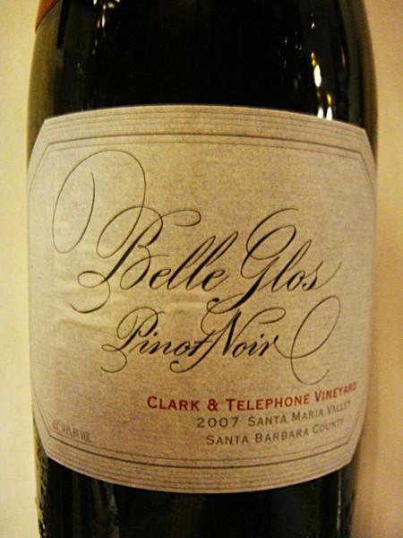 "Etikett 2007 Belle Glos Pinot Noir ""Clarke & Telephone Vineyard"""