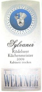 Etikett 2009 Roedelseer Kuechenmeister Silvaner Kabinett trocken