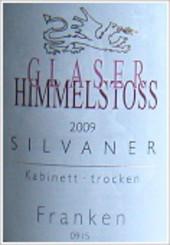 Etikett 2009 Silvaner Kabinett trocken - Weingut Glaser-Himmelstoss