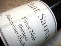 Etikett 2007 Pinot Noir Rüdesheimer Drachenstein - Chat Sauvage