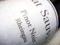 Etikett 2006 Pinot Noir Rheingau - Chat Sauvage