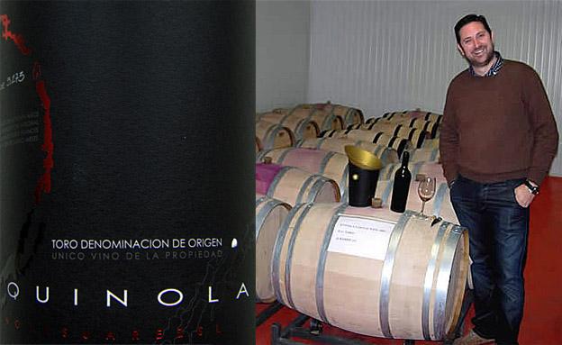 Collage Etikett und Fässer - Luxuswein Quinola aus Toro
