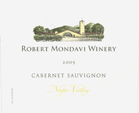 Etikett 2005 Napa Valley Cabernet Sauvignon | Robert Mondavi Winery