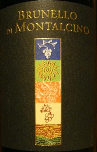 Etikett 2005 Brunello di Montalcino
