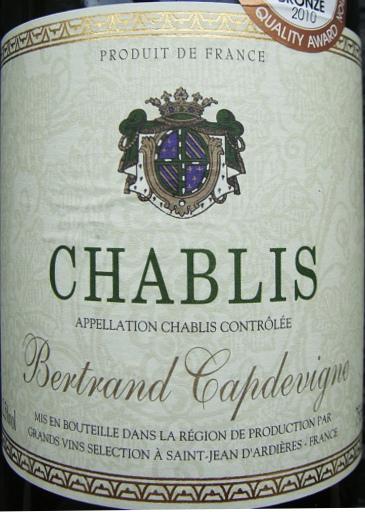 "Etikett 2009 Chablis ""Bertrand Capdevigne"""