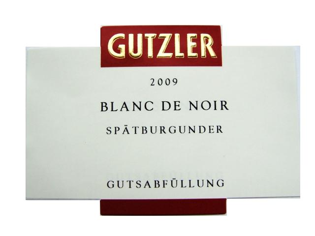Etikett 2009 Blanc de Noir Spaetburgunder - Weingut Gutzler
