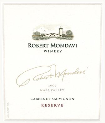 Etikett 2005 Napa Valley Cabernet Sauvignon Reserve | Robert Mondavi Winery