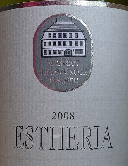 Etikett 2008 Estheria - Weingut Ruck