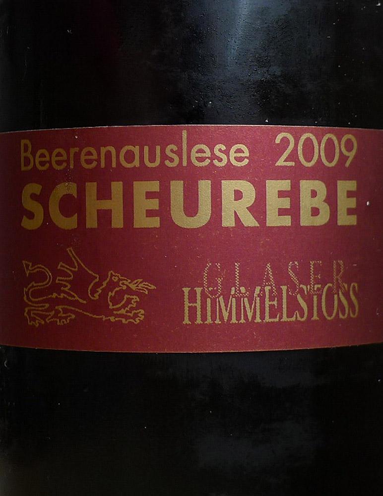 Etikett 2009 Scheurebe Beerenauslese - Weingut Glaser-Himmelstoss