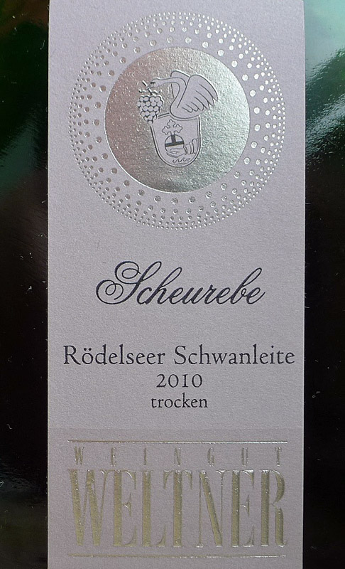 Etikett 2010 Roedelseer Schwanleite trocken - Weingut Weltner