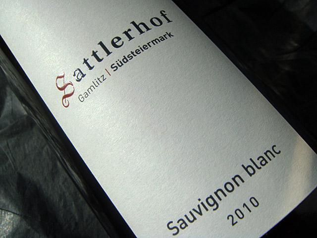 2010 Sauvignon blanc - Sattlerhof
