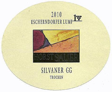 Etikett 2010 Escherndorfer Lump Silvaner GG