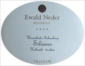 Etikett 2009 Wirmsthaler Scheinberg Silvaner Kabinett trocken - Ewald Neder
