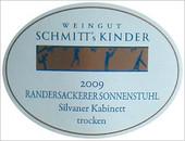 Etikett 2009 Randersackerer Sonnenstuhl Silvaner Kabinett trocken - Weingut Schmitt's Kinder