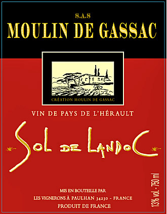 Etikett Sol de Landoc - Moulin de Gassac