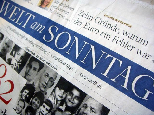 Welt am Sonntag vom 20.11.2011