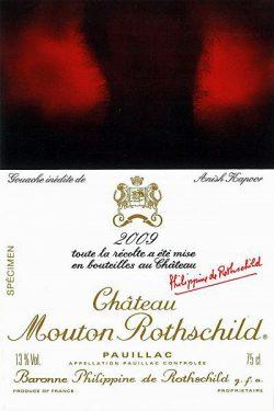 Etikett 2009 Chateau Mouton Rothschild