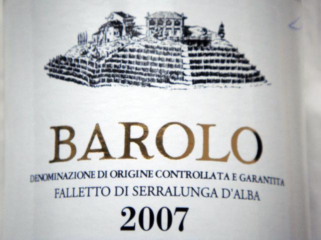 Etikett 2007 Barolo DOCG Falletto di Serralunga d'Alba - Bruno Giacosa