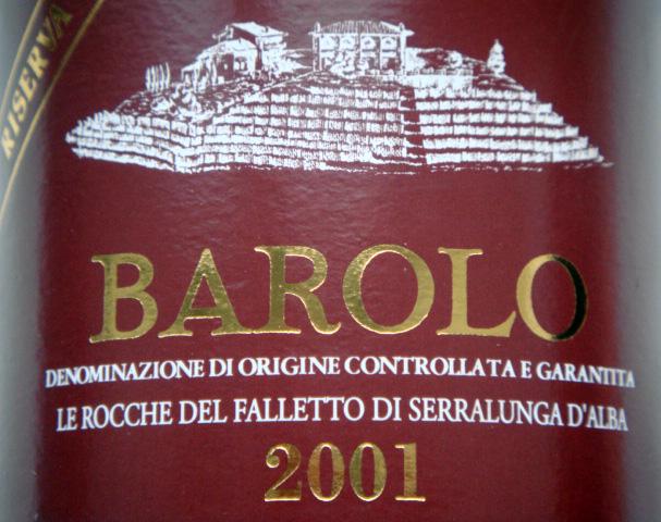 Etikett 2001 Barolo DOCG Riserva Le Rocche del Falletto di Serralunga d'Alba - Bruno Giacosa