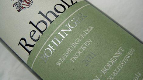 Etikett 2011 Bohlinger Weißburgunder Qualitätswein trocken